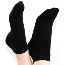 Sneaker socks black in organic cotton Albero Natur