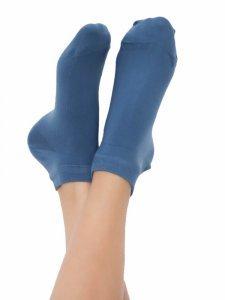 Sneaker socks denim blue in organic cotton Albero Natur