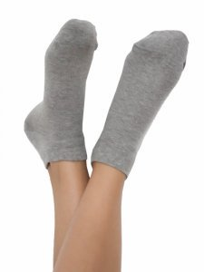 Sneaker socks grey in organic cotton Albero Natur
