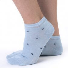 Sneaker socks in Eucalyptus fiber Light Blue