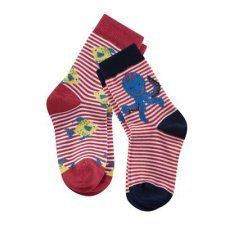 Short socks Octopus in organic cotton - pack of 2