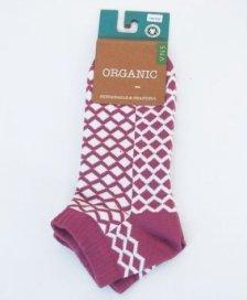 Sneakers socks in fair trade organic cotton Purple