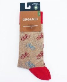 Socks in fair trade organic cotton Bike