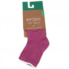 Socks in fair trade organic cotton Fuchsia