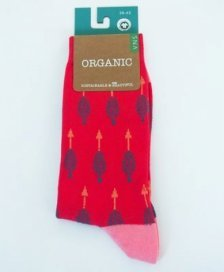 Socks in fair trade organic cotton Red arrows