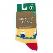 Socks in fair trade organic cotton yellow Boats