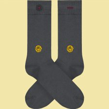 Socks with melted Smile embroidery in organic cotton