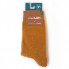 Socksn fair trade Organic Cotton and Wool Mustard