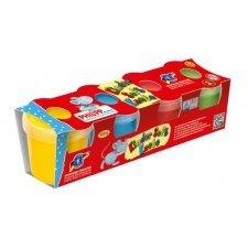 Soft play dough - 4 pots