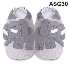 Soft sole leather baby shoes Elephant