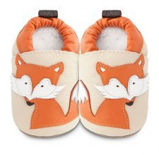 Soft sole leather baby shoes Fox