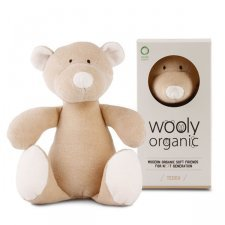 Teddy the bear soft toy in organic cotton
