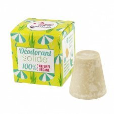 Solid deodorant with essential oil of palmarosa