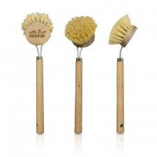 Spazzola per Piatti con manico in legno e setole vegetali
