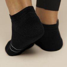 Sport socks in Eucalyptus fiber Black