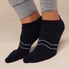Sport socks in Eucalyptus fiber Navy