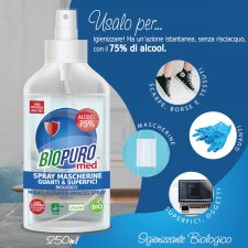 Spray mascherine guanti e superfici BIOPURO MED