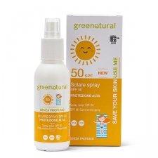 Spray Solare Bio SPF 50 senza profumo Greenatural