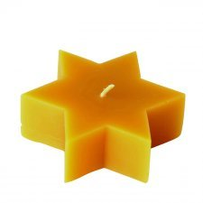 Star shaped candle made of beeswax
