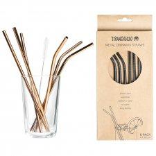 Steel straws set of 6 pieces