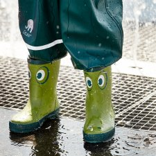 Stivaletti da pioggia Galla Green per bambini in gomma naturale