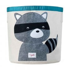 Storage Bin Racoon 100% cotton