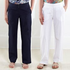 Straight leg trouser Nomads in fair trade cotton
