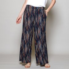 Stripe wide leg trousers in viscose