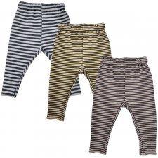 Striped baby leggings in bamboo