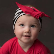 Striped hair band in organic cotton