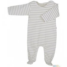 Striped light babysuit