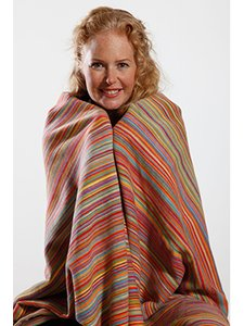 Striped plaid in organic cotton fleece