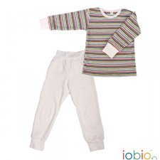 Striped pyjams in organic cotton terry