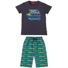 Boy summer set Crocodile in organic cotton