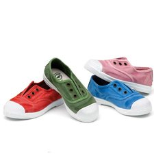 Summer sneakers for children in organic cotton canvas