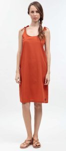 Summer woman dress Finnerby orange in organic cotton