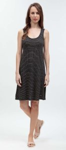 Summer woman dress Stode black in linen