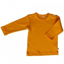 Sun yellow organic cotton long sleeve shirt