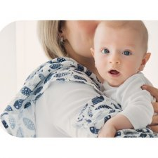 Swaddle in organic cotton Fishes