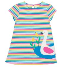 Swan dress in organic cotton for baby girls