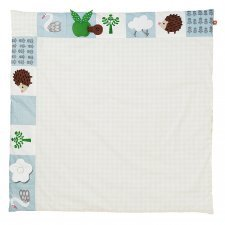 Swan quilted play mat in organic cotton