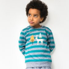 Sweat shirt Finn striped in organic cotton
