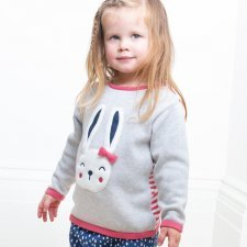 Sweater in organic cotton with bunny