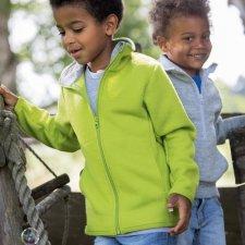 Children's zip-up jacket in organic wool