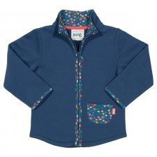 Sweatshirt with zip in organic cotton Ditsy print