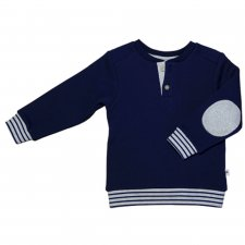 Sweatshirt for children in organic cotton Blue Marine