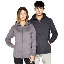 Unisex sweatshirt with hood and Salvage Recycled zip in organic cotton