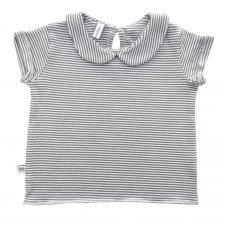T-shirt a righe Bambina in Bamboo organico