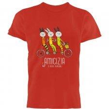 T-shirt Amicizia in cotone biologico equo