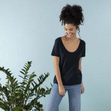 T-shirt EasyBio ampia scollatura in cotone Biologico